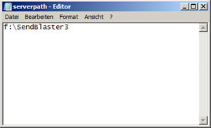 Sendblaster-datenbank-pfad-anpassen-editor-screenshot